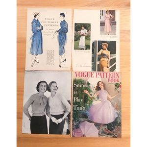 Lot 100 Vintage Fashion Magazine Pages